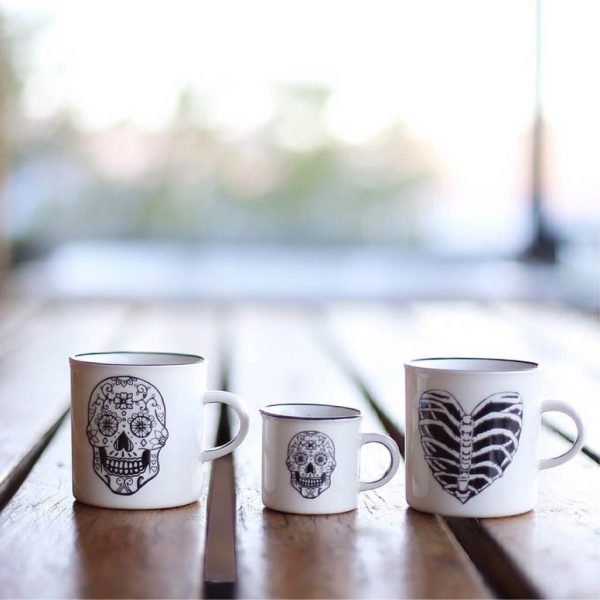 Best Gift for Husband Birthday - Handcrafted skull ceramic mug online - Sugar and Vice - South Africa