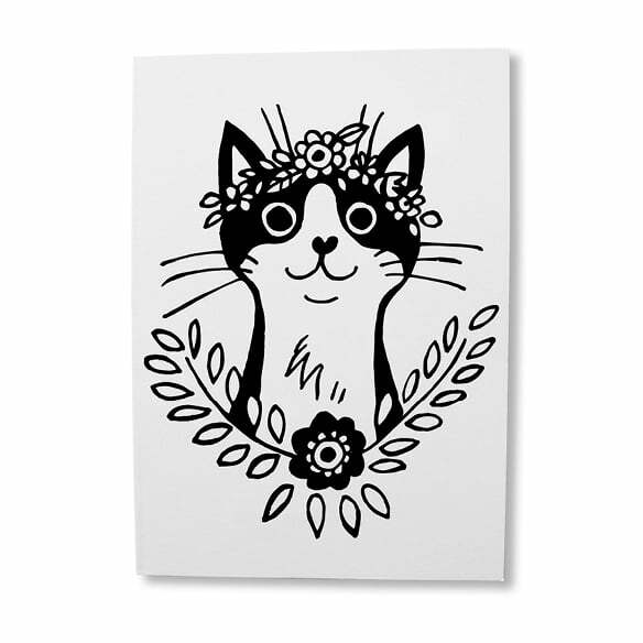 Greeting Cards South Africa - Black Cat birthday greeting card online - Sugar and Vice - Cape Town