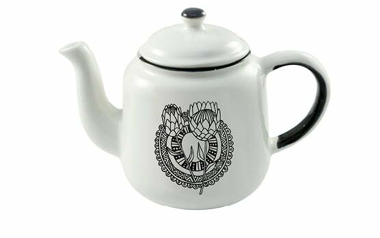 Gifts Online South Africa - featured in Sunday Times - Protea Teapot - Sugar & Vice