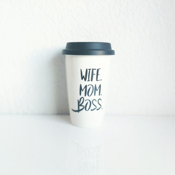 Travel Coffee Mugs Online - Mom. Wife. Boss. - Sugar and Vce - Cape Town