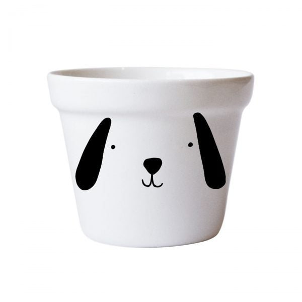 Illustrated Cute Scandi Dog Planter Online - Sugar and Vice