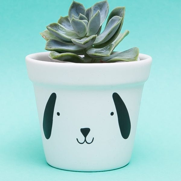 Illustrated Cute Scandi Dog Planter Online - Sugar and Vice2
