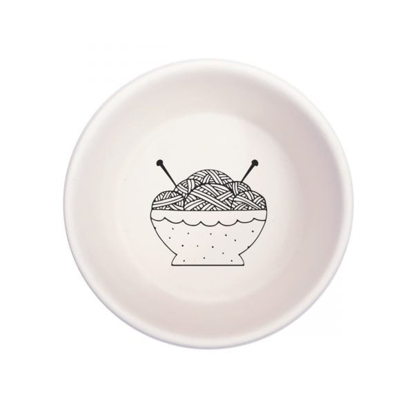 White Knitting Wool Handmade Pottery bowl online - Cape Town - Sugar and Vice