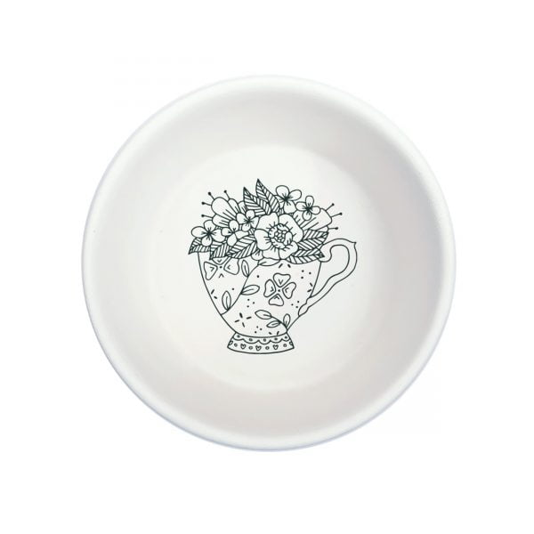 White Tea Cup Handmade Pottery bowl online - Cape Town - Sugar and Vice