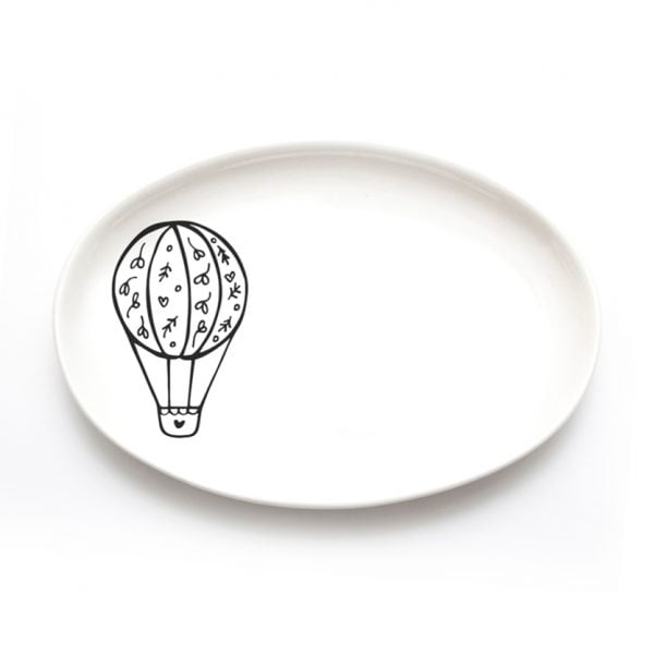 Buy Ceramic Plates Online - Air Balloon Illustration - Cape Town - Sugar and Vice