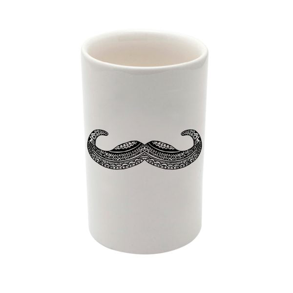 moustache ceramic utility storage jar - sugar and vice - cape town
