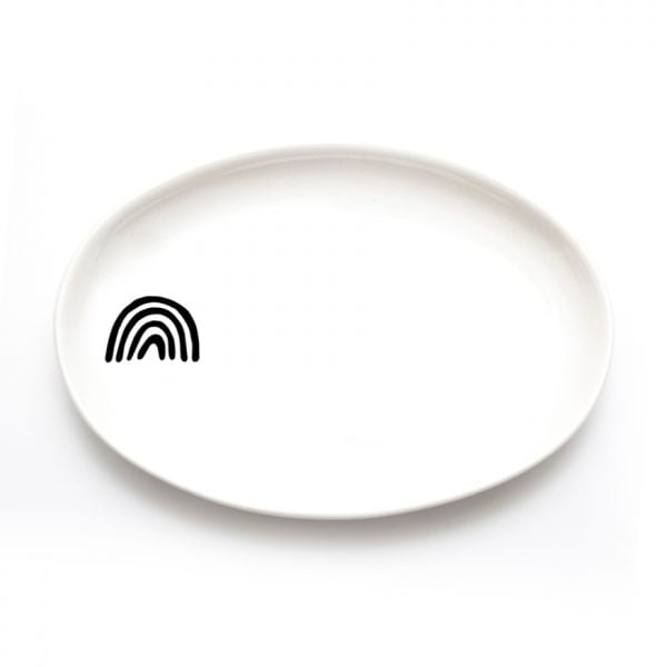 Buy Ceramic Plates Online - Rainbow Illustration - Cape Town - Sugar and Vice