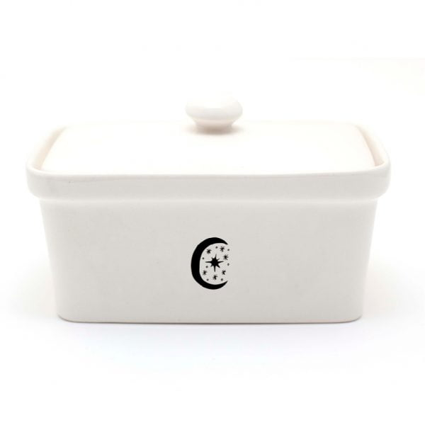 Handmade illustrated Moon ceramic butter dish online - Cape Town - Sugar and Vice2