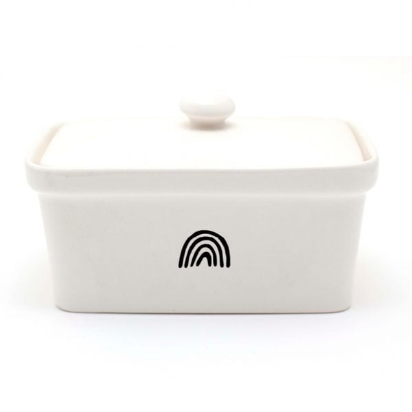 Handmade illustrated Rainbow ceramic butter dish online - Cape Town - Sugar and Vice2