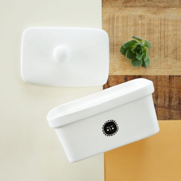 Handmade illustrated Sun ceramic butter dish online - Cape Town - Sugar and Vice