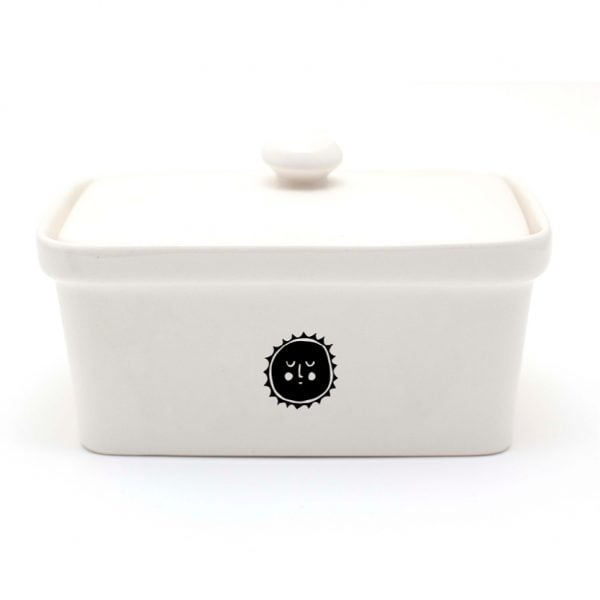 HandmAade illustrated Sun ceramic butter dish online - Cape Town - Sugar and Vice