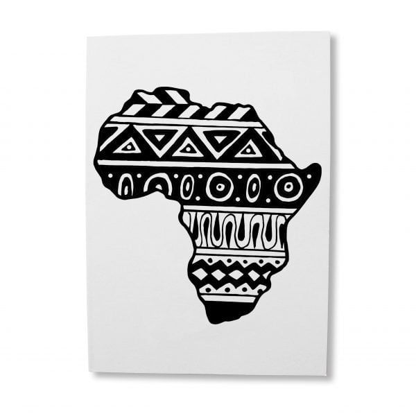 Illustrated Aztec Africa greeting card download - Sugar and Vice
