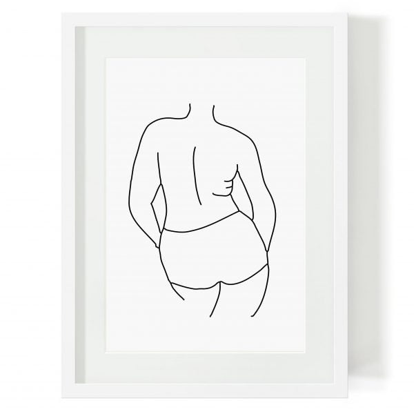 Illustrated Nandi Minimalist Woman Figure Digital Download Art Print Online - Sugar and Vice - 2000 x 2000px
