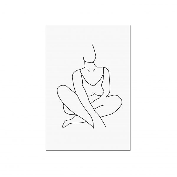 Illustrated Noluthando Minimalist Woman Figure Digital Download Art Print Online - Sugar and Vice - 2000 x 2000px - 2