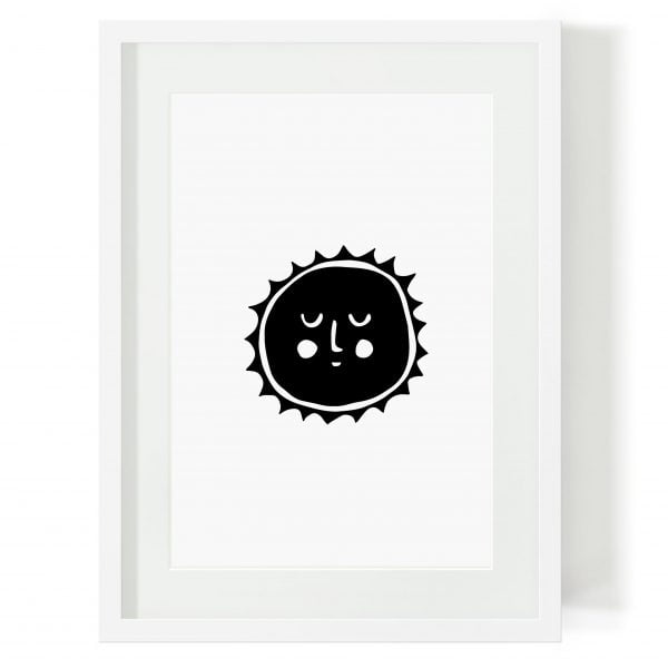Illustrated Sun Scandi Digital Download Art Print Online - Sugar and Vice - 2000 x 2000px