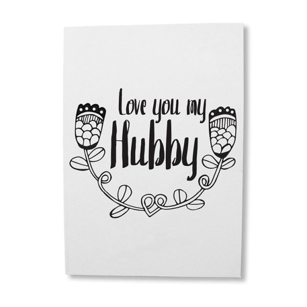 Love you my hubby greeting card for a guy online - Sugar and Vice