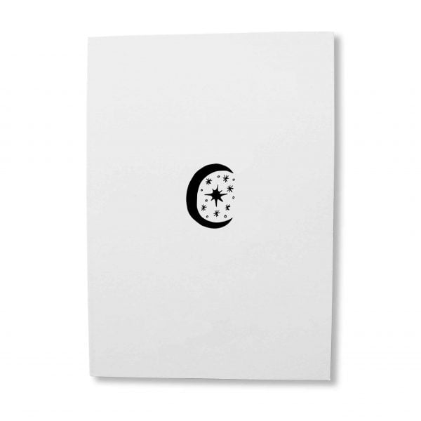 Illustrated moon greeting card download - Sugar and Vice