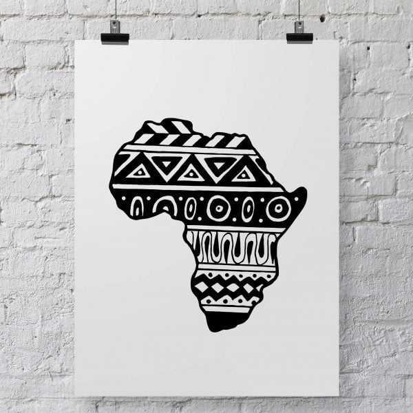 Illustrated Aztec African Continent Digital Download Art Print Online - Sugar and Vice - 2000 x 2000px3