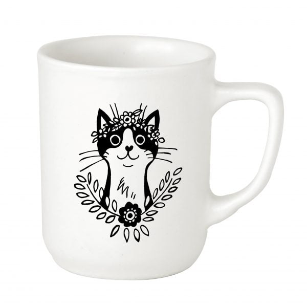 Illustrated Ceramic Bohemian Cat Mug Online - Sugar and Vice - 2000 x 2000px