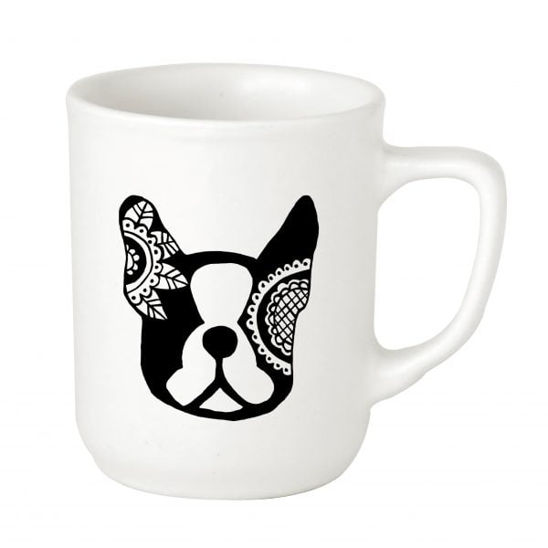 Illustrated Ceramic French Bulldog Mug Online - Sugar and Vice - 2000 x 2000px