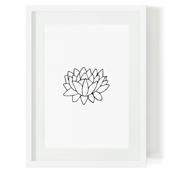Illustrated Minimalist Lotus Digital Download Art Print Online - Sugar and Vice - 2000 x 2000px3
