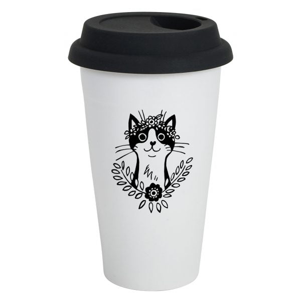 Bohemian Cat Travel Mug Online - Sugar and Vice - 2000 x 2000px