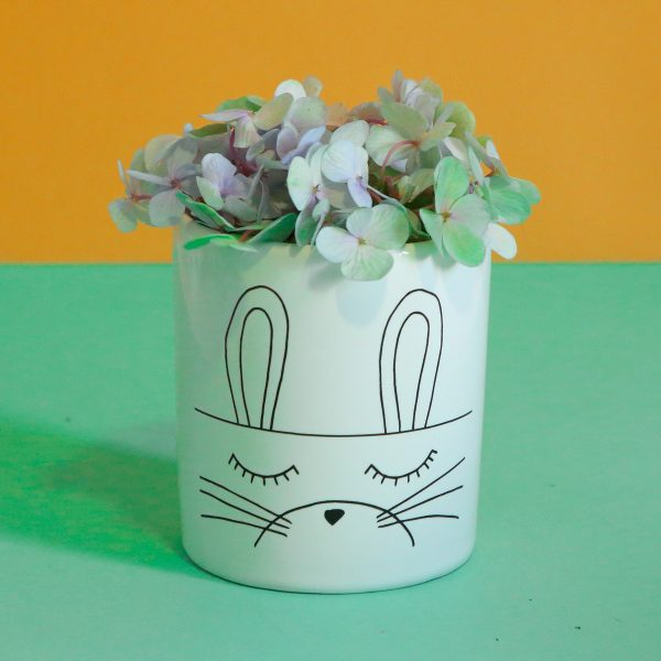 Illustrated Bunny Illustration Jar, Mugs and Planter Online - Sugar and Vice - 2000 x 2000px