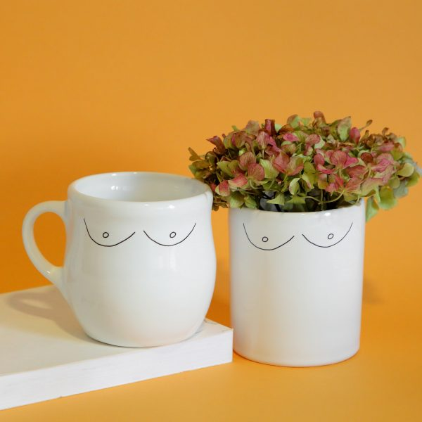 Illustrated Boobies Illustration Jar, Mugs and Planter Set Online - Sugar and Vice - 2000 x 2000px1