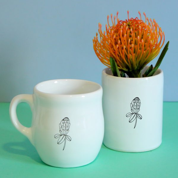 Illustrated Protea Illustration Jar, Mugs and Planter Online - Sugar and Vice - 2000 x 2000px4