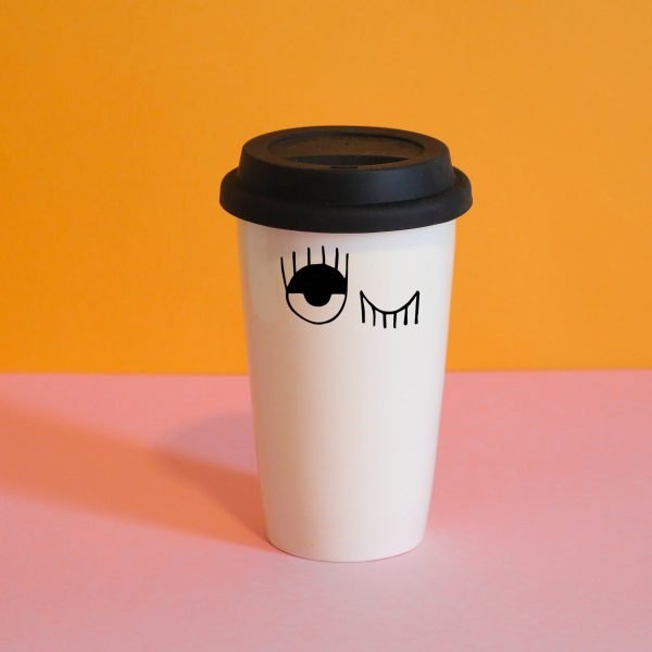 Winking Eyes Travel Mug Online - Sugar and Vice - 2000 x 2000px