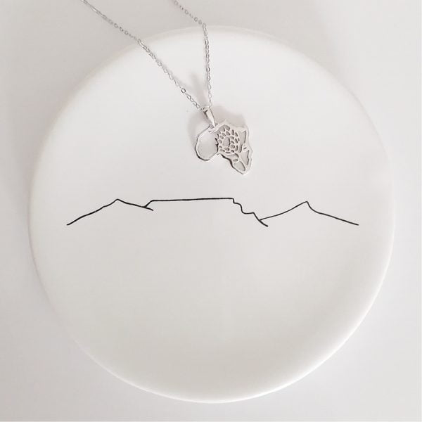 Handmade King Protea Africa Sterling Silver Necklace South African Souvenir Online - Cape Town - Sugar and Vice