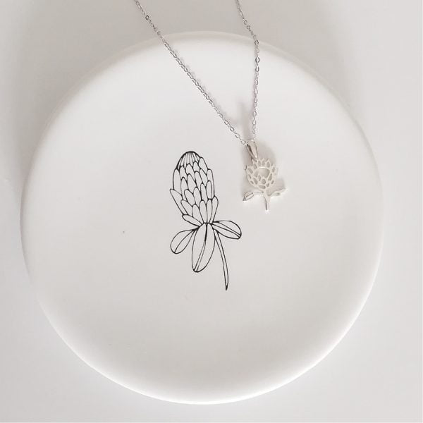 Handmade King Protea Sterling Silver Necklace South African Souvenir Online - Cape Town - Sugar and Vice2 (2)