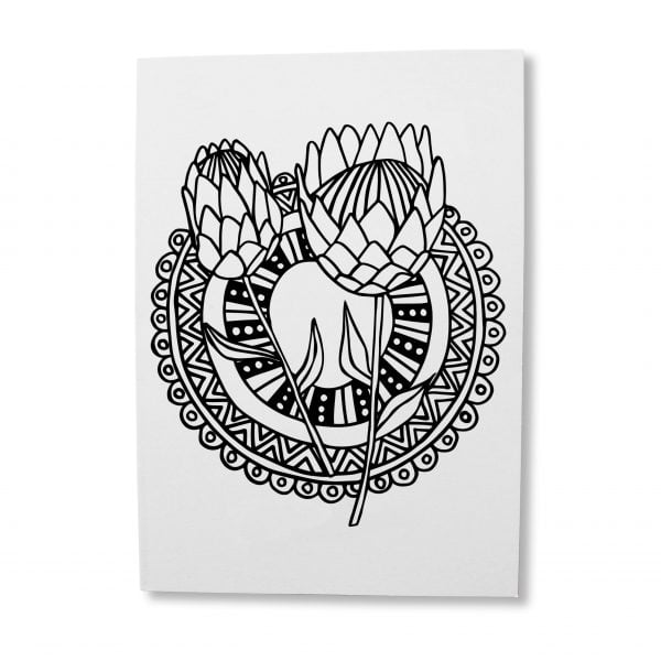 Illustrated-protea-greeting-card-download-Sugar-and-Vice