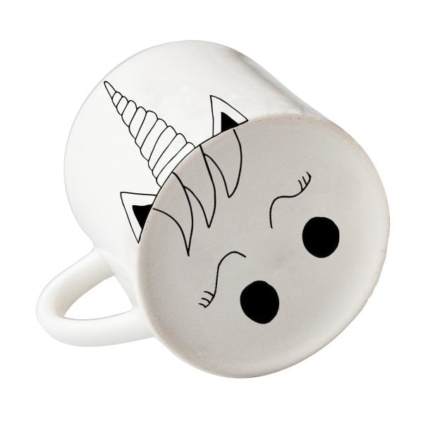 White unicorn face ceramic mug online - Sugar and Vice3