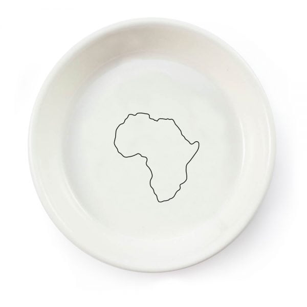 Illustrated African Continent OutlineTapas Bowl Online - Cape Town - South Africa - Souvenir