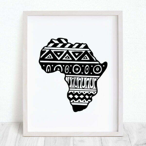 Illustrated Aztec Africa Continent Digital Download Art Print Online - Sugar and Vice - 2000 x 2000px - 4