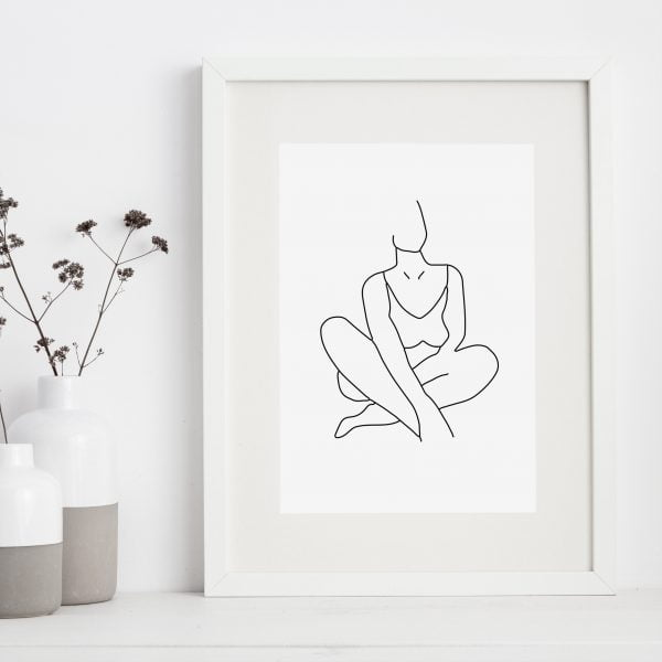 Framed-wall-art-print-woman-Sugar-and-Vice-Cape-Town