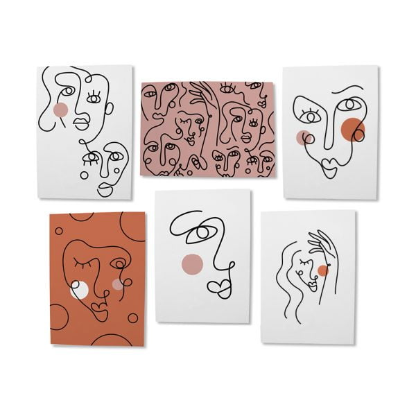 Abstract-Face-Greeting-Card-Bundle-Sugar-and-Vice-Cape-Town-Online