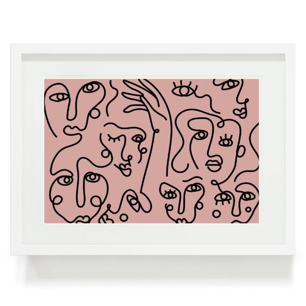Abstract-Faces-Wall-Art-Sugar-and-Vice-Cape-Town-Online