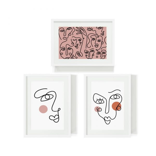 Abstract-Faces-Wall-Art-Bundle-Sugar-and-Vice-Cape-Town-Online