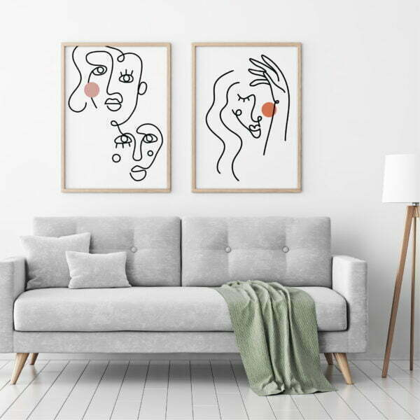 Abstract Faces Art Print Bundle V3 - updated