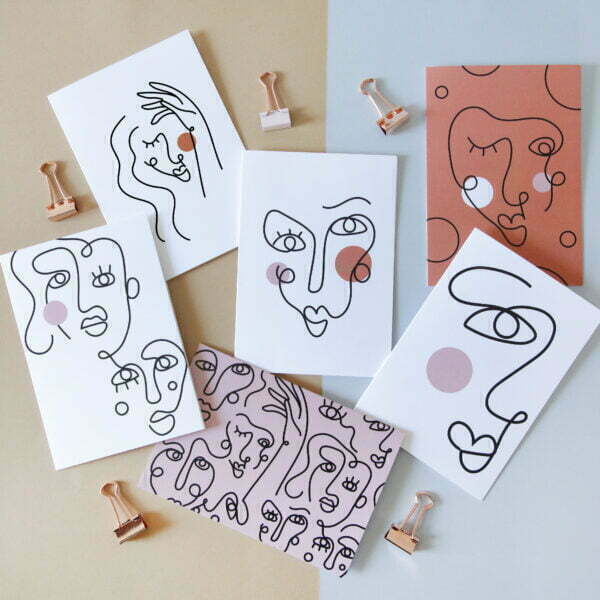 Abstract Faces Greeting Card Bundle - Sugar & Vice - Online - Cape Town.jpg