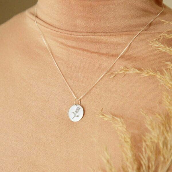 Protea Sterling Silver Necklace South African Souvenir Online - Cape Town - Sugar and Vice2