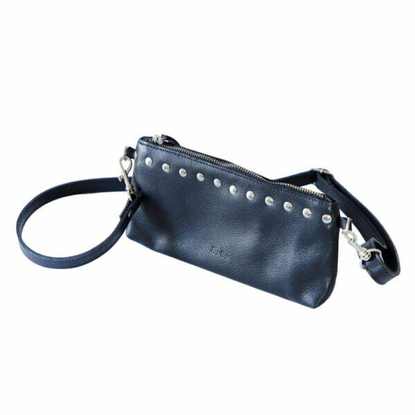 Handmade Genuine Black Leather Studded Handbag and Wallet Online - Cape Town - Sugar and Vice