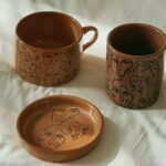 Confidence Abstract Face Bohemian Range Pink and Rust Colours Ceramic Mugs and Bowls Online - Sugar and Vice.jpg